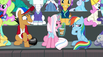 Rainbow Dash looks embarrassed S9E6