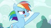 Rainbow Dash testando a brisa T4E16