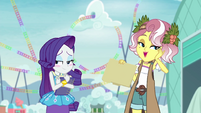 Rarity blushing at Vignette's flattery EGROF