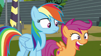Scootaloo making ecstatic noises S8E20