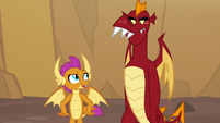 "Smolder ""just like old times"" S9E9"