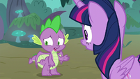 Spike -the breakout, the fire burps- S8E11