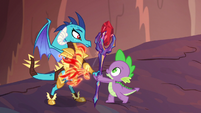 Spike gives Ember the bloodstone scepter S6E5