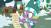 Spike pointing at Twilight's to-do-list MLPBGE