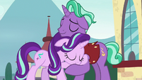 Starlight Glimmer and Firelight hugging S8E8