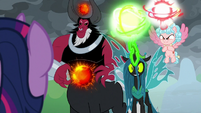 Villains about to finish the ponies off S9E25
