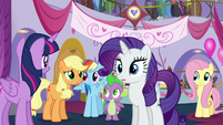 AJ -That Sassy totally stepped on your hooves, Rarity- S5E14
