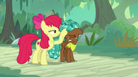 Apple Bloom patting Spur on the head S9E22