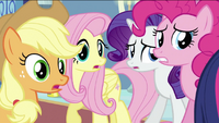 Applejack, Fluttershy, Rarity and Pinkie S2E25