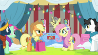 "Applejack ""getting the right gift for"" MLPBGE"