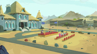 Distance view of Maud's graduation ceremony S7E4