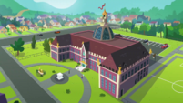 Exterior view of Canterlot High School EGDS37