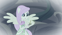 Fluttershy holding the Geode of Kindness EGFF