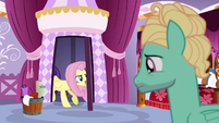Fluttershy pulling the door behind her S6E11