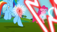 Pinkie Pie and Rainbow Dash's elements activating S3E10