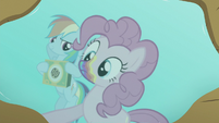 Pinkie looks at her reflection in puddle S6E15