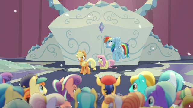 File:Ponies shocked by magic blast S6E2.png