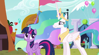 Princess Celestia looking concerned S5E11