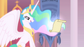 Princess Celestia looks at letter S1 opening.png