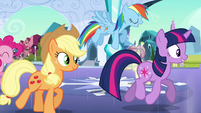Rainbow Dash boasting -awesome at it- S03E12