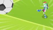 Rainbow Dash kicks soccer ball EG
