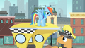 Rainbow Dash on top of a cab S4E08.png
