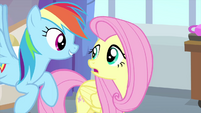 Rainbow interested in Fluttershy's secret MLPS3