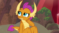 Smolder thinking of something to share S9E9