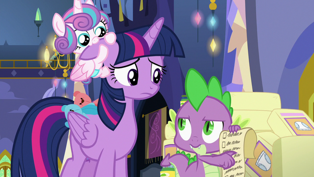 File:Spike reminds Twilight of the schedule S7E3.png