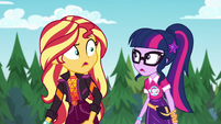 Sunset and Twilight looking for Pinkie EGSBP