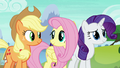 AJ, Fluttershy, and Rarity in agreement S8E24.png