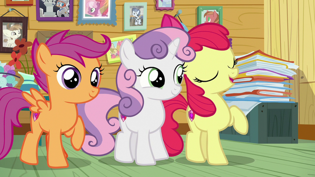 "File:Apple Bloom ""will be back to bein' besties!"" S7E6.png"
