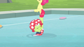 Apple Bloom on top of Granny's hoof S4E20.png