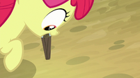 Apple Bloom plants stake in the ground S9E10