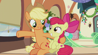 "Applejack ""we open presents!"" S5E20"