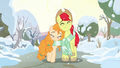Bright Mac and Pear Butter walking in winter S7E13.png
