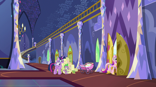 File:Cadance and Shining Armor leave Twilight's castle S7E3.png