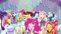 Crystal Rainbooms dancing as one group EGS1.png