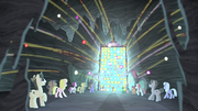 Cutie marks fly around the cave S5E2