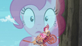 Double exposure of Pinkie narrating and the carriage falling down S5E11.png