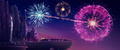 Fireworks over Canterlot at sunset (new version) MLPTM.png