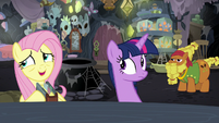 "Fluttershy ""find those aggressive flash bees"" S7E20"