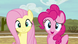 Fluttershy and Pinkie pleasantly surprised S6E18
