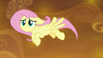 Fluttershy flying toward Rainbow Dash S9E2