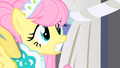 Fluttershy shocked to see a huge crowd of ponies staring at her S1E20.png