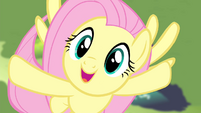 Fluttershy singing while flying up S4E14