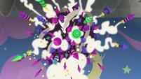Giant ball of fireworks starts to explode S8E7