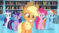 Main ponies no Fluttershy squee S3E1.png