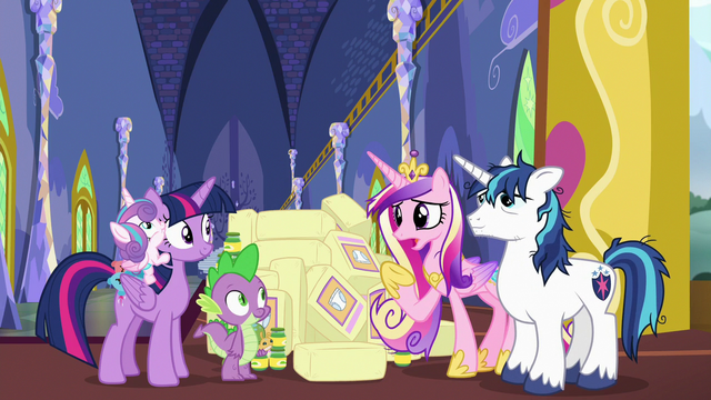 "File:Princess Cadance ""are you sure you can watch her?"" S7E3.png"
