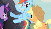 "Rainbow Dash ""let's go!"" S5E1"